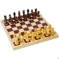Шахматы обиходные, деревянные с доской